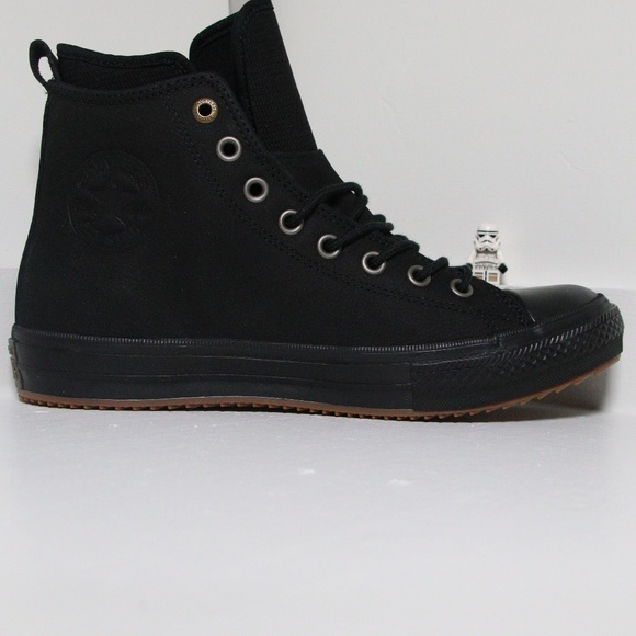 1e606038f0 Black Leather Waterproof Converse All Star Boots